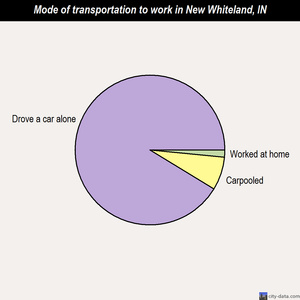 New Whiteland mode of transportation to work chart