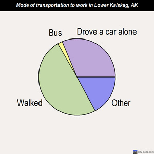 Lower Kalskag mode of transportation to work chart