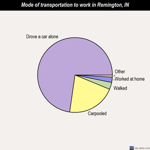 Remington mode of transportation to work chart