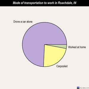 Roachdale mode of transportation to work chart