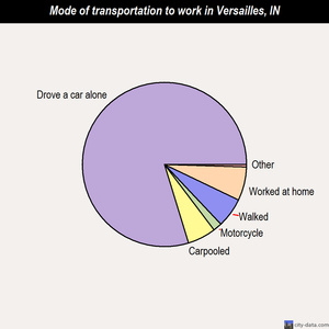 Versailles mode of transportation to work chart