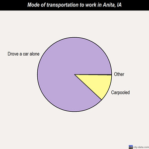 Anita mode of transportation to work chart