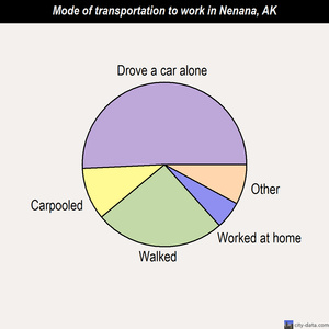 Nenana mode of transportation to work chart