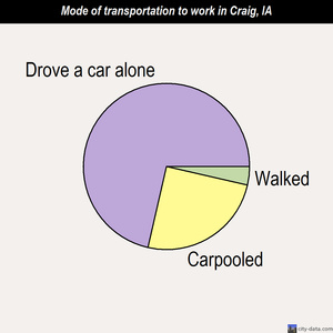 Craig mode of transportation to work chart
