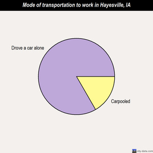 Hayesville mode of transportation to work chart