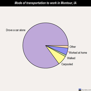 Montour mode of transportation to work chart