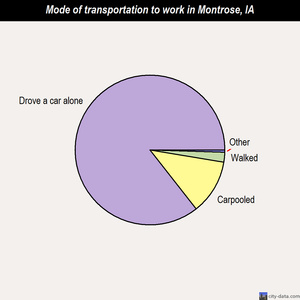 Montrose mode of transportation to work chart