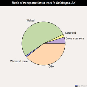 Quinhagak mode of transportation to work chart