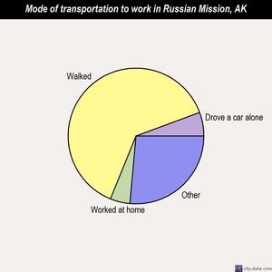 Russian Mission mode of transportation to work chart