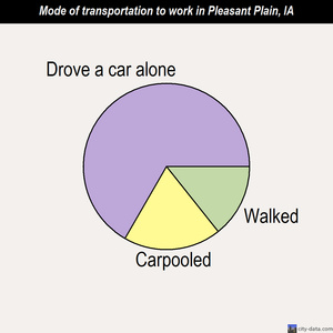 Pleasant Plain mode of transportation to work chart