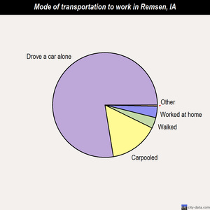 Remsen mode of transportation to work chart