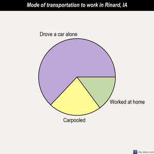 Rinard mode of transportation to work chart