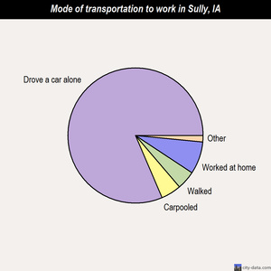 Sully mode of transportation to work chart