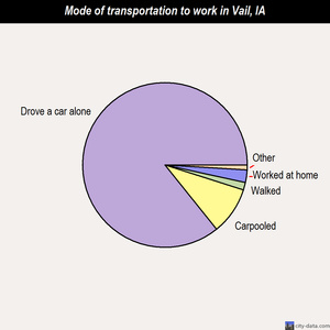 Vail mode of transportation to work chart