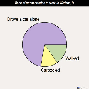 Wadena mode of transportation to work chart