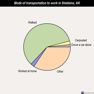 Stebbins mode of transportation to work chart