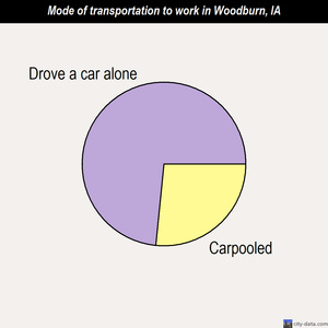 Woodburn mode of transportation to work chart