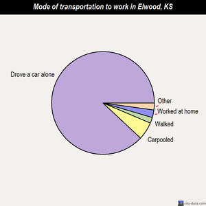 Elwood mode of transportation to work chart