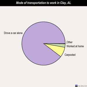 Clay mode of transportation to work chart