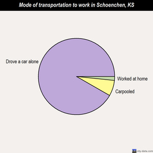 Schoenchen mode of transportation to work chart