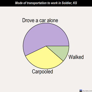Soldier mode of transportation to work chart