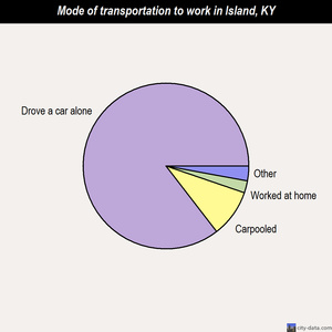 Island mode of transportation to work chart