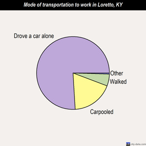 Loretto mode of transportation to work chart