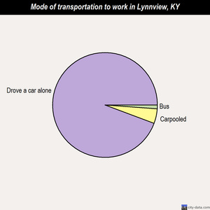Lynnview mode of transportation to work chart