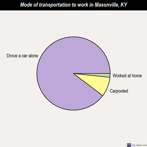 Masonville mode of transportation to work chart