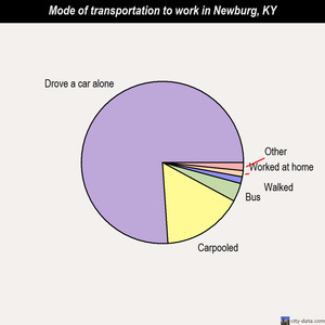 Newburg mode of transportation to work chart