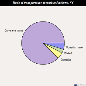 Richlawn mode of transportation to work chart