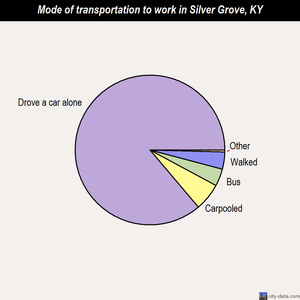 Silver Grove mode of transportation to work chart