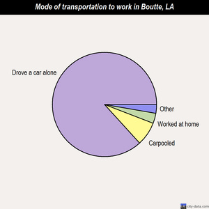 Boutte mode of transportation to work chart