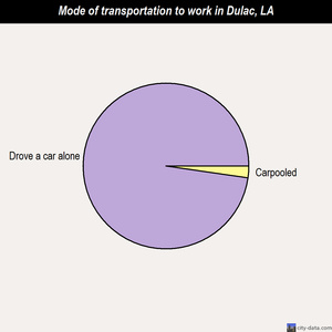 Dulac mode of transportation to work chart