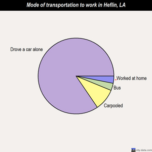 Heflin mode of transportation to work chart