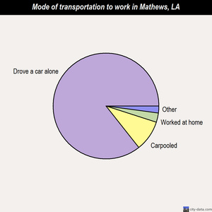 Mathews mode of transportation to work chart