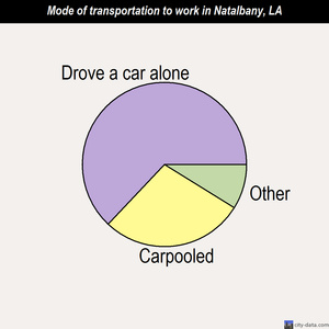 Natalbany mode of transportation to work chart