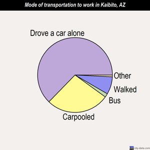 Kaibito mode of transportation to work chart