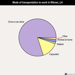 Wisner mode of transportation to work chart