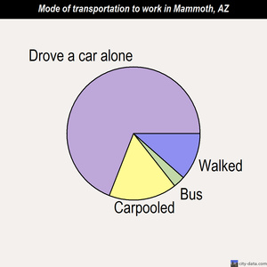 Mammoth mode of transportation to work chart