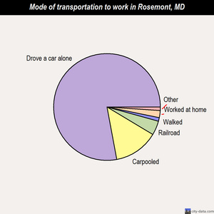 Rosemont mode of transportation to work chart