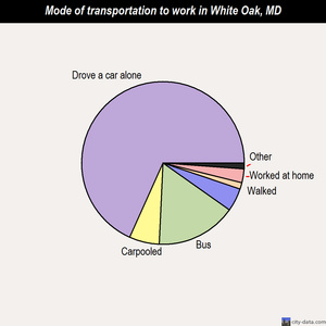 White Oak mode of transportation to work chart