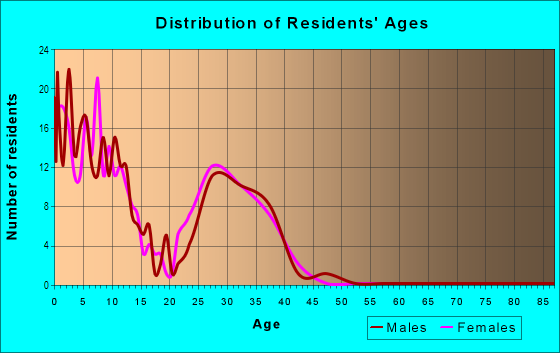 Age and Sex of Residents in Cecil Field Naval Air Station in Jacksonville, FL