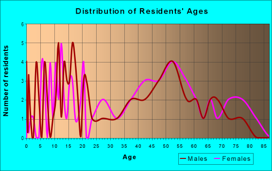 Age and Sex of Residents in Palmora in Leesburg, FL