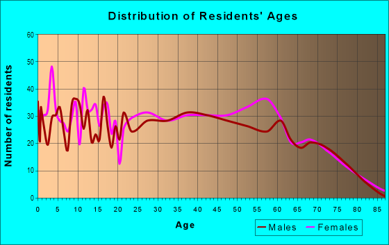 Age and Sex of Residents in Poinciana in Haines City, FL
