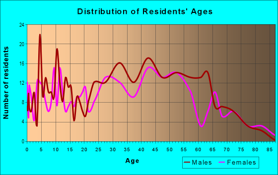 Age and Sex of Residents in Bahama Village in Key West, FL
