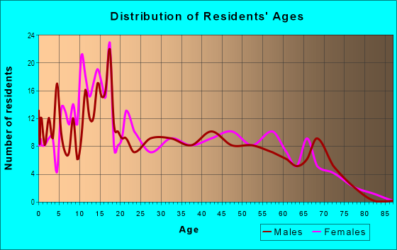 Age and Sex of Residents in Buena Vista East in Miami, FL