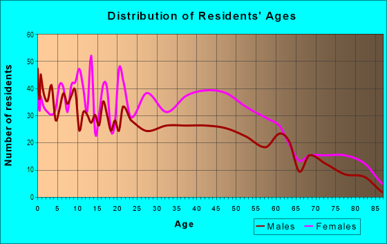 Age and Sex of Residents in Bayview Neighborhood Association in Saint Petersburg, FL