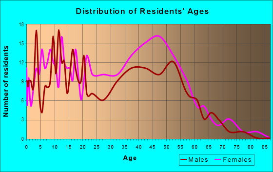 Age and Sex of Residents in Huntington Estates in Atlanta, GA