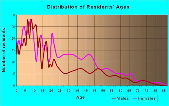 Age and Sex of Residents in Watts Road in Atlanta, GA